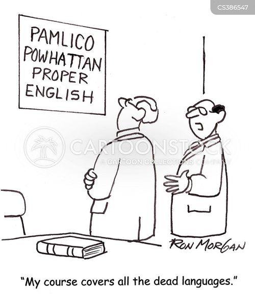 dead language cartoon