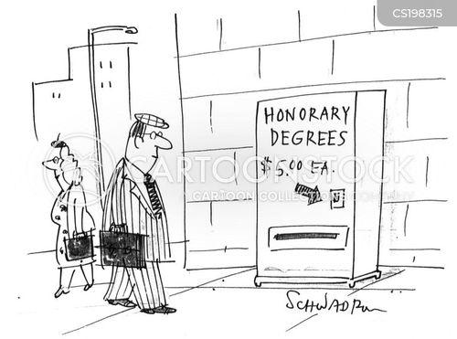 honorary degrees cartoon