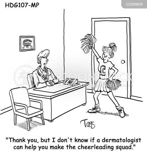 skin problems cartoon