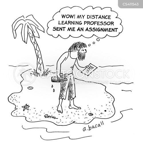 distance learning cartoon