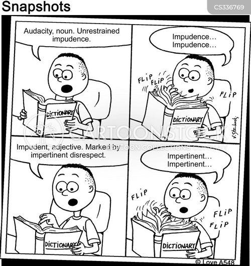 dictionary definitions cartoon