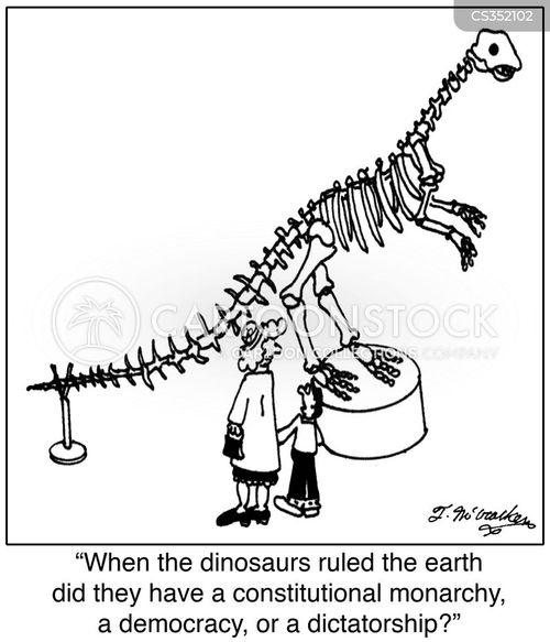 natural history museum cartoon
