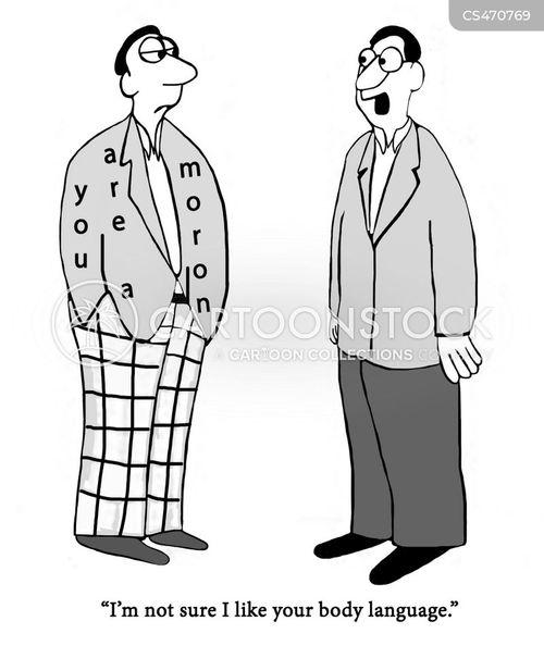 body-language cartoon