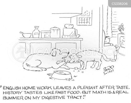 home work cartoon