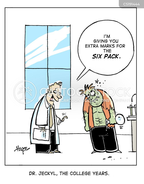 six pack cartoon