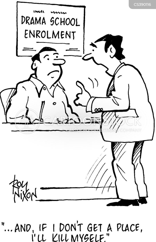 drama schools cartoon