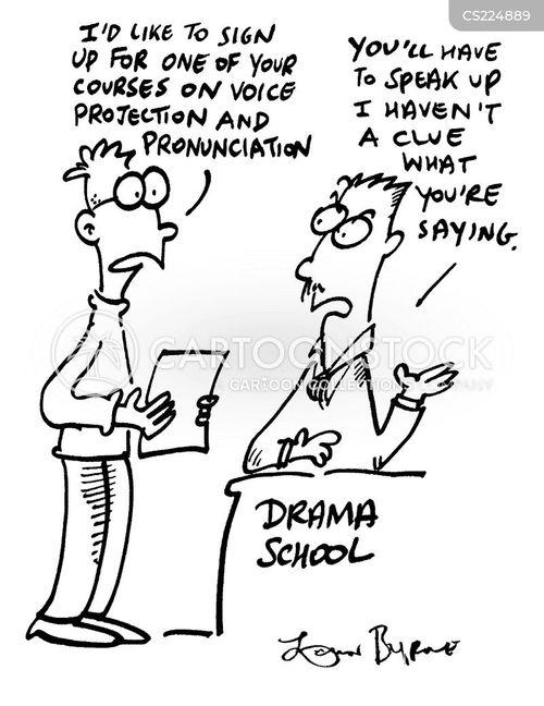 voice projection cartoon