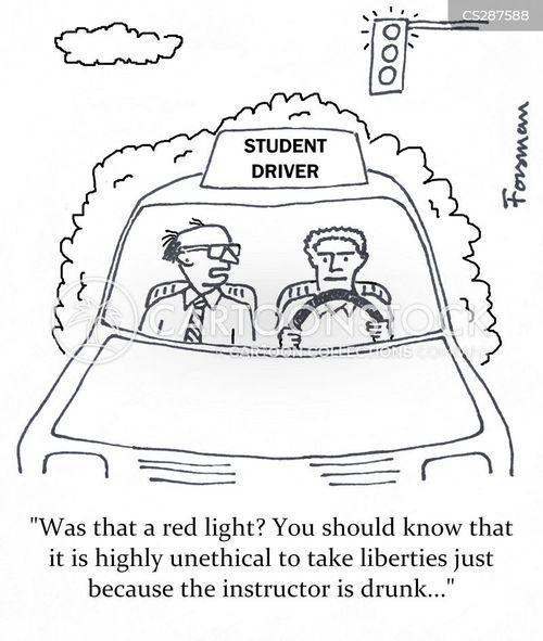 Driver's ed Cartoon 10 of 22