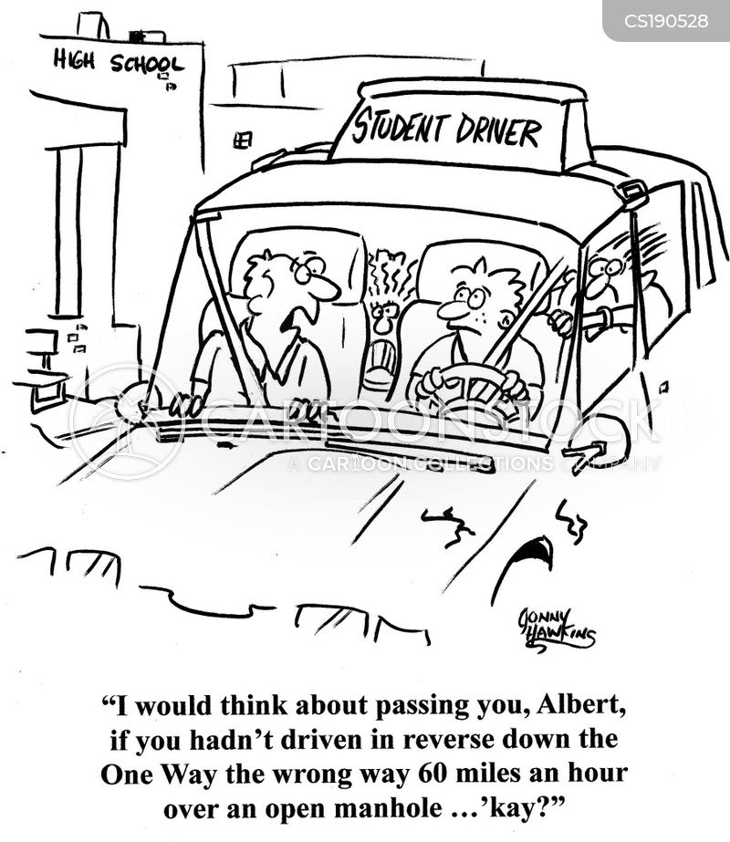 young drivers cartoon