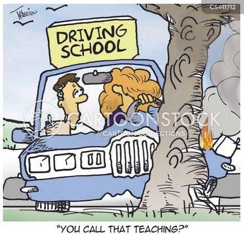 driving schools cartoon