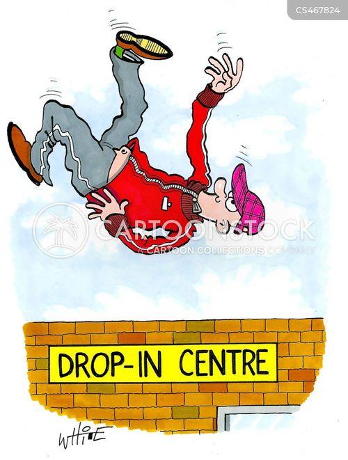 drop in centre cartoon