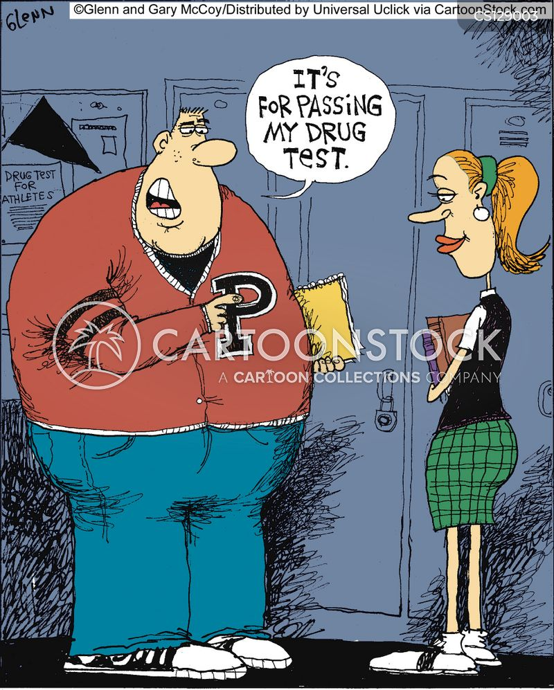 drug testing cartoons and comics funny pictures from cartoonstock