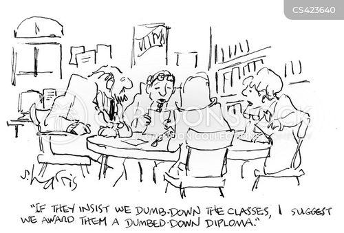 dumb-down cartoon