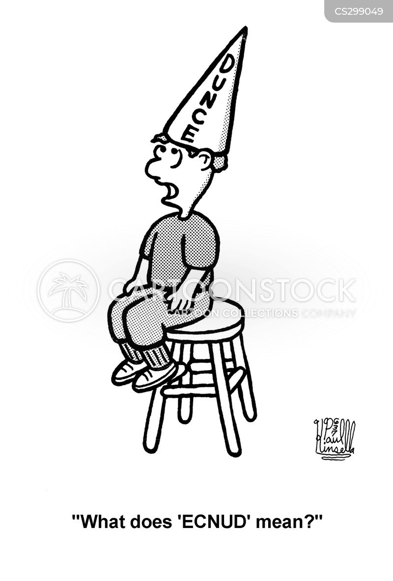 Dunce Cap Cartoons and Comics - funny pictures from CartoonStock