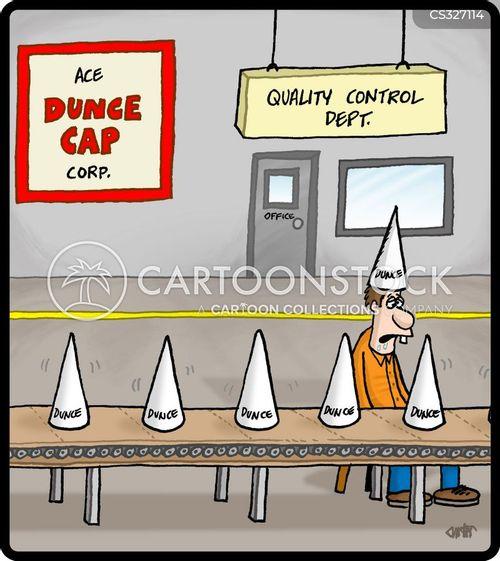 quality checks cartoon