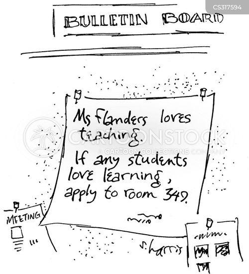 bulletin boards cartoon