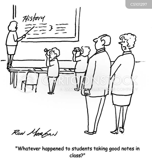 taking notes cartoon