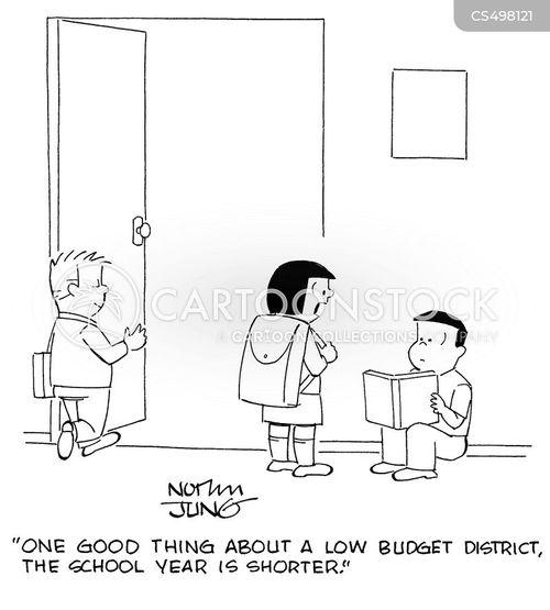 budget shortfall cartoon