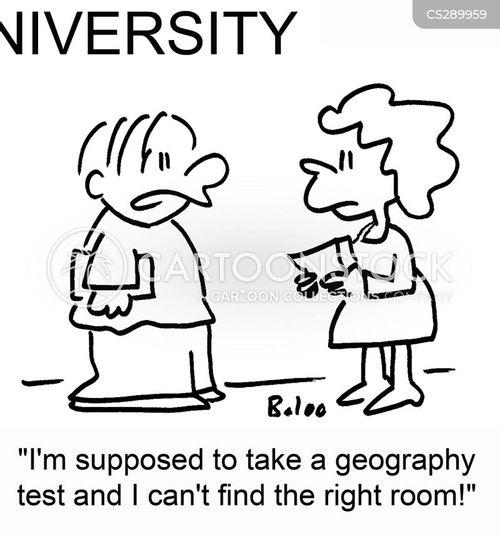 geography tests cartoon