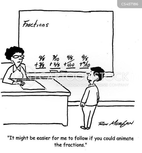 fraction cartoon