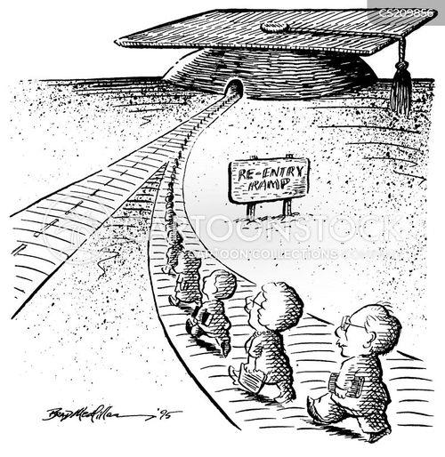 mature students cartoon