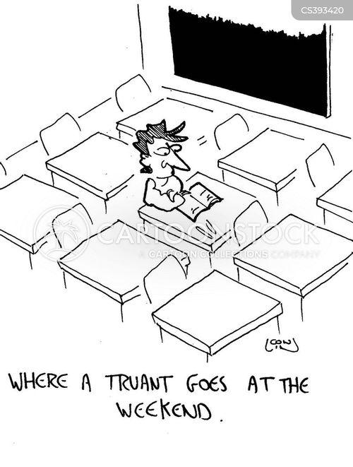 school attendance cartoon