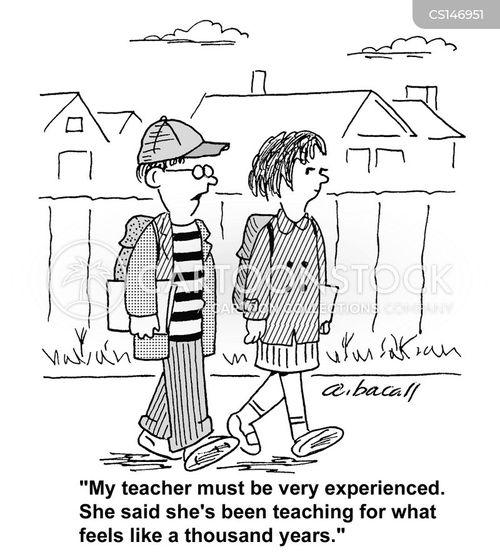 education worker cartoon