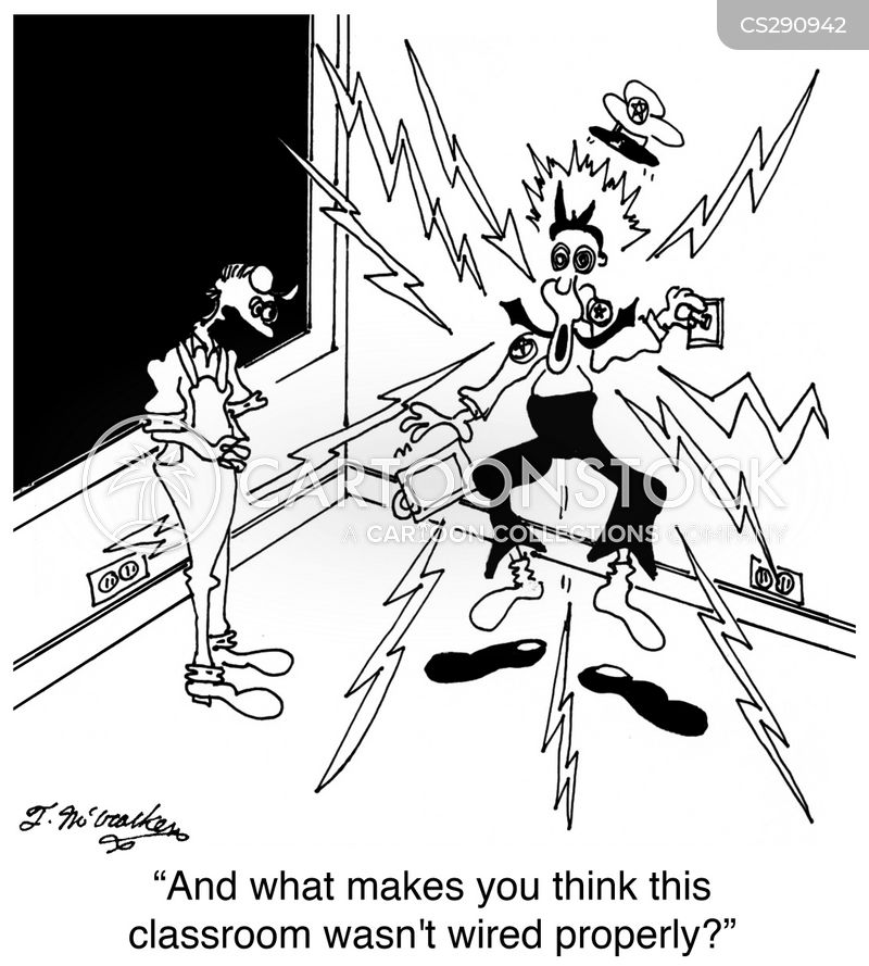 electrocuted cartoon