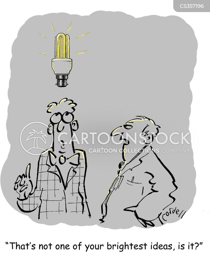 energy saving lightbulb cartoon