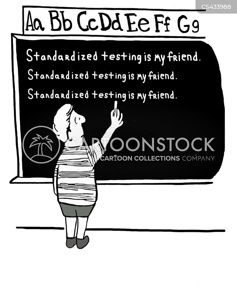 standardized testing cartoon