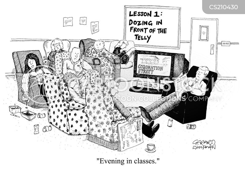 evening in cartoon