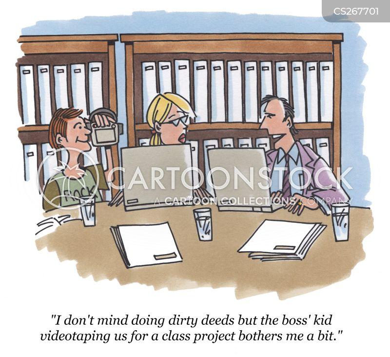 videotaping cartoon