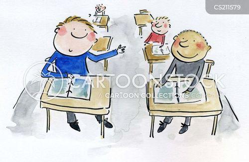 school lesson cartoon