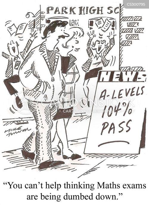 maths exam cartoon