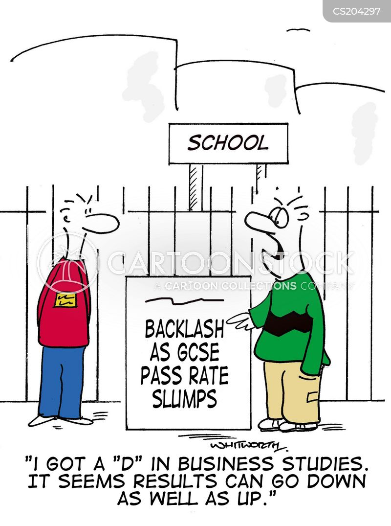 exam results cartoon
