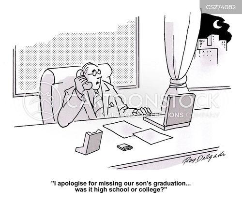 college graduation cartoon