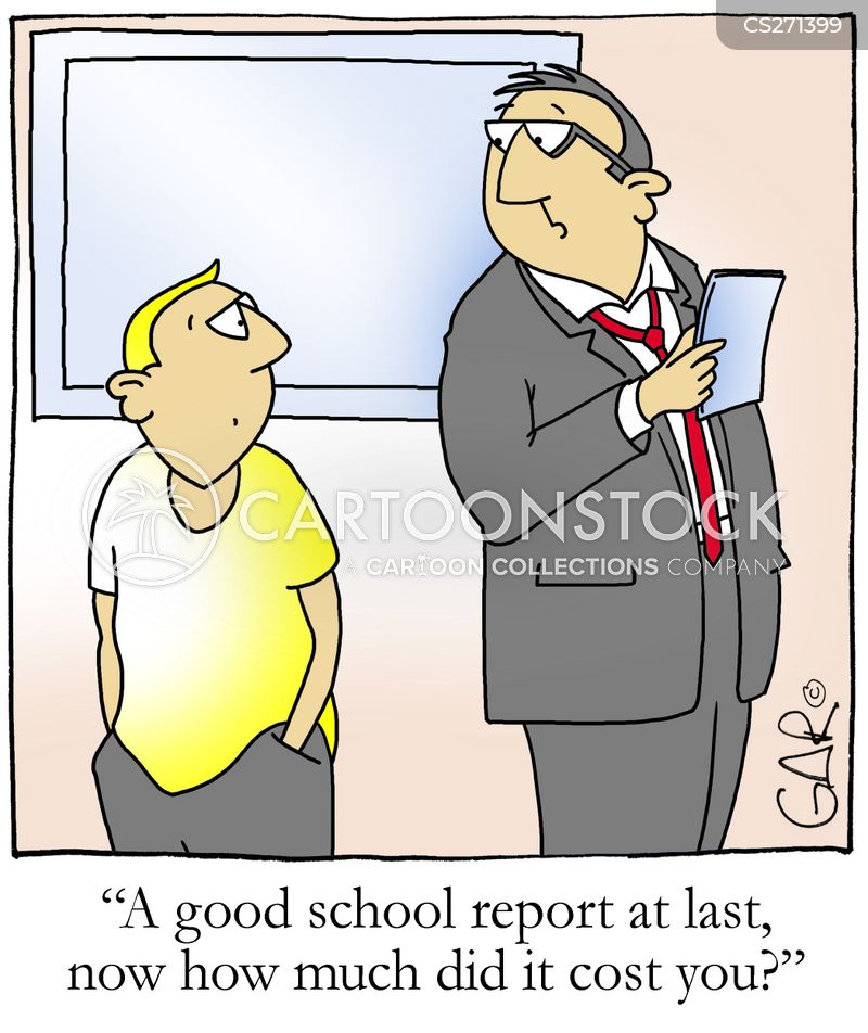 good report cartoon
