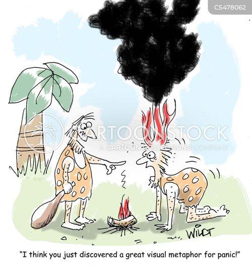 visual metaphor cartoon