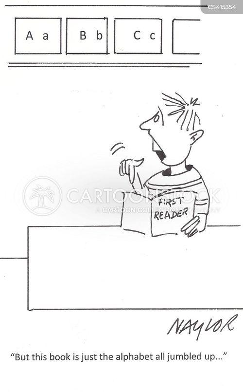 reading class cartoon