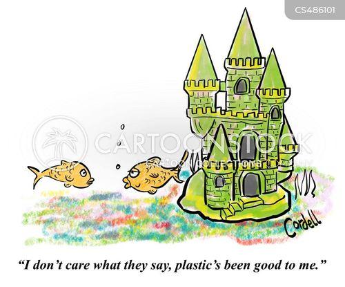 plastic pollution cartoon