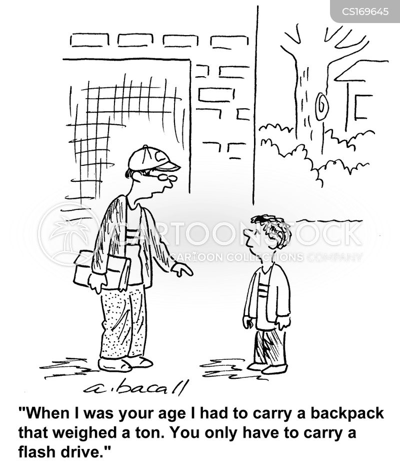 heavy bags cartoon