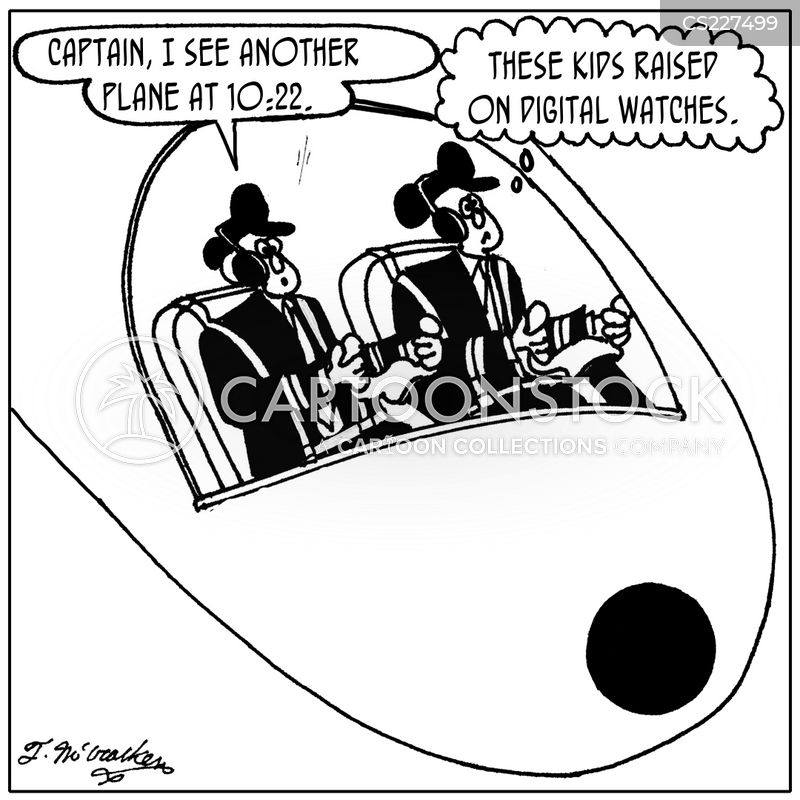 plane collision cartoon