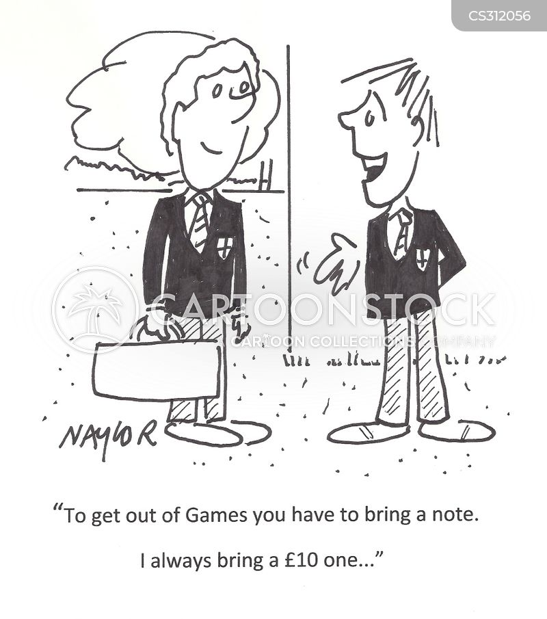 skipping class cartoon
