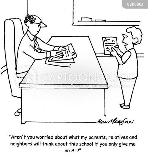 a grade cartoon