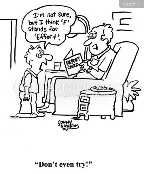 poor grades cartoon