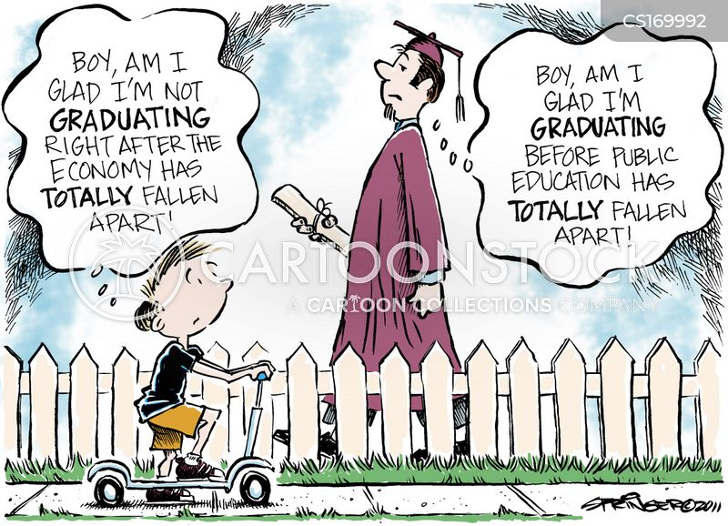 graduate job market cartoon
