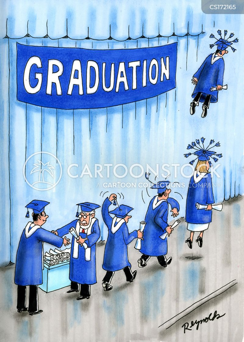 graduating cartoon