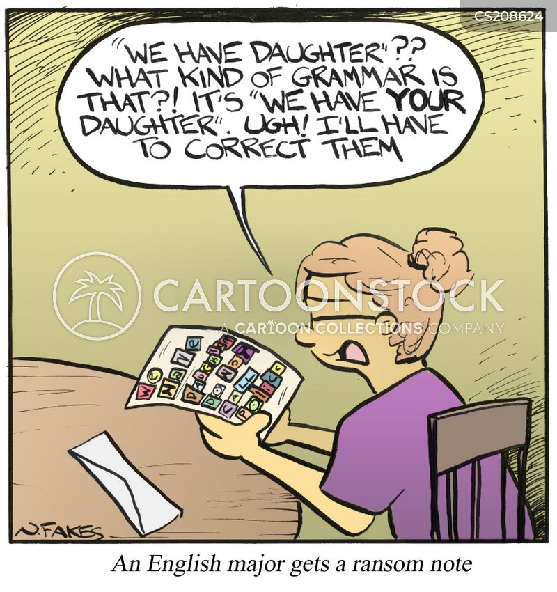 ransom note cartoon