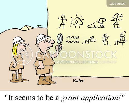 grant applications cartoon