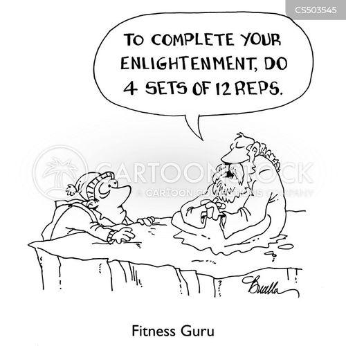 fitness guru cartoon